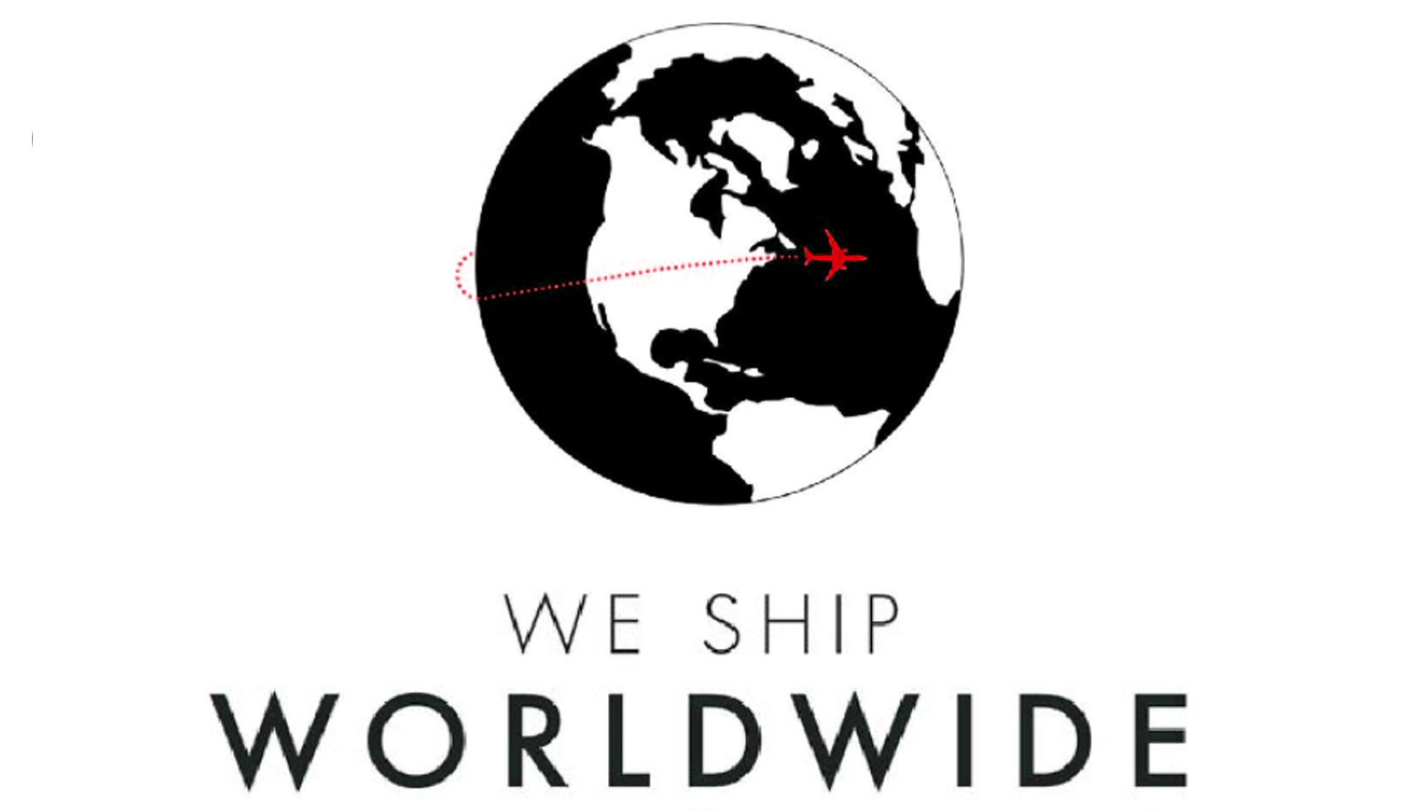 We ship to over 200 countries